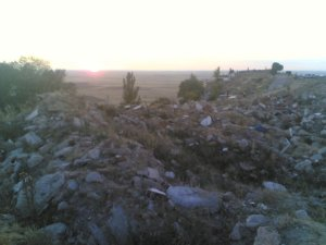 Gran escombrera junto al Mirador de Campos (Autilla del Pino)