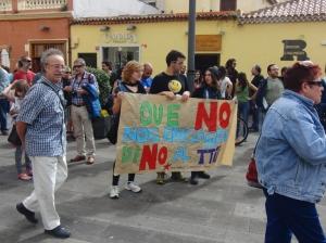 Manifestación en La Laguna (Tenerife)