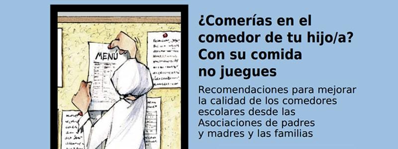 Un folleto para mejorar los comedores escolares | Ecologistas Palencia