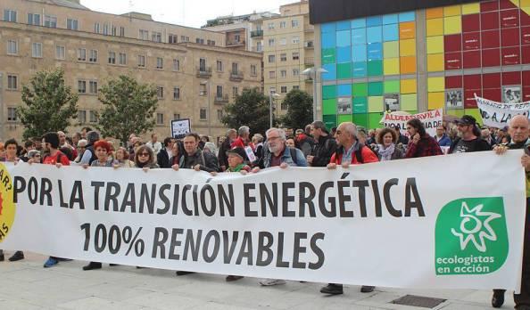 Manifestación contra la mina de uranio en Salamanca
